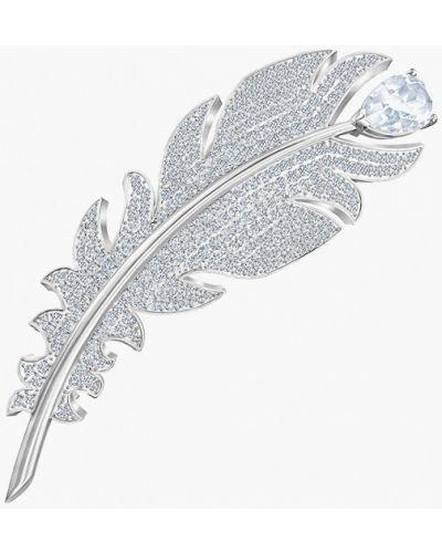 Брошь серебряный Swarovski