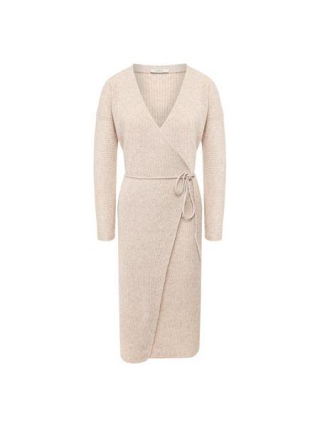 Платье с поясом с запахом с V-образным вырезом Vince.