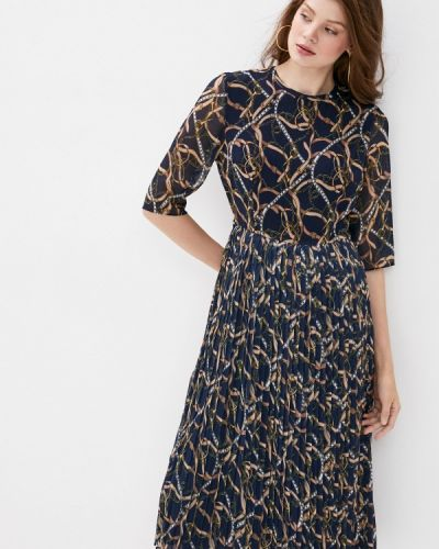 Прямое синее платье Lusio