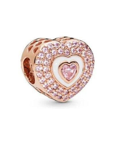 Серебряный золотой браслет с камнями металлический Pandora
