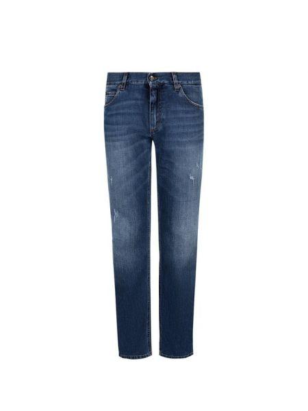 Прямые джинсы с карманами с вышивкой Dolce & Gabbana
