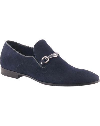 Синие туфли замшевые Fabi