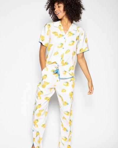 Пижамная пижама с брюками на пуговицах с разрезом Cyberjammies