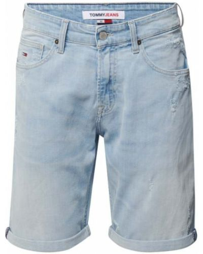 Niebieskie bermudy jeansowe bawełniane Tommy Jeans
