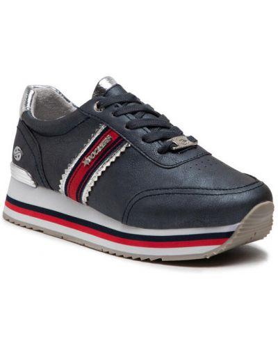 Sneakersy - granatowe Dockers By Gerli