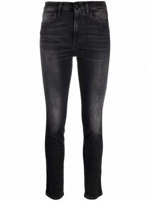 Джинсовые зауженные джинсы - черные 3x1