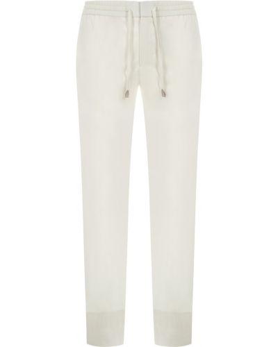 Białe spodnie Brioni