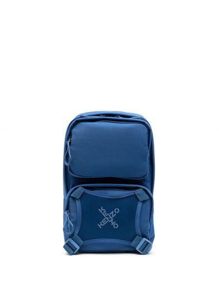 Niebieski plecak z printem Kenzo