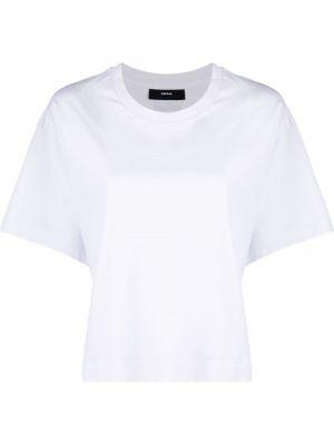 Прямая белая футболка с вырезом Diesel