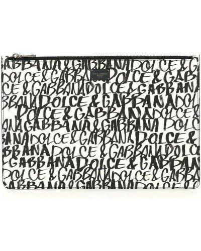 Kopertówka skórzana - czarna Dolce And Gabbana