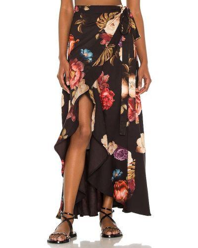 Облегченная текстильная черная юбка Agua Bendita