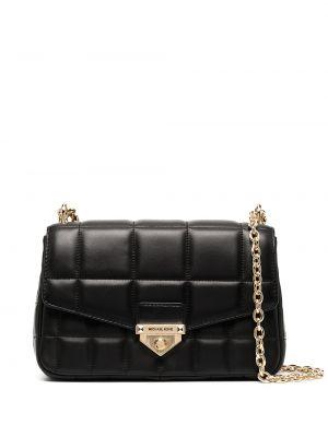 Стеганая черная кожаная сумка на цепочке Michael Michael Kors