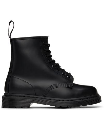 Черные ботильоны на шнуровке Dr Martens