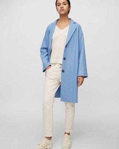 Niebieski płaszcz wełniany Marc O Polo