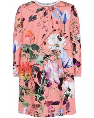 Розовое хлопковое платье Molo