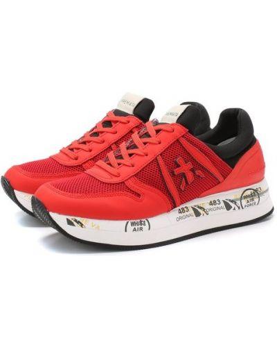 Кроссовки красный с подкладкой Premiata