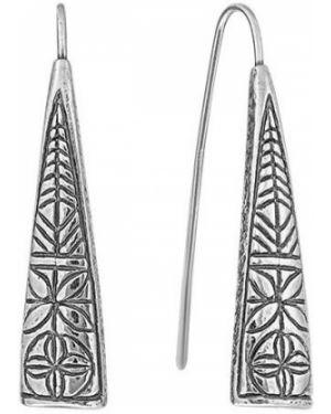Серебряные серьги удлиненные Den'o
