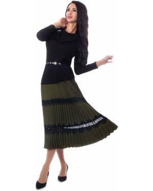 Плиссированная юбка на резинке в складку Wisell