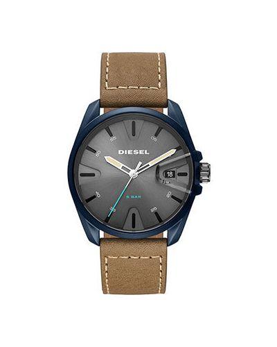 Часы водонепроницаемые кварцевые с кожаным ремешком Diesel