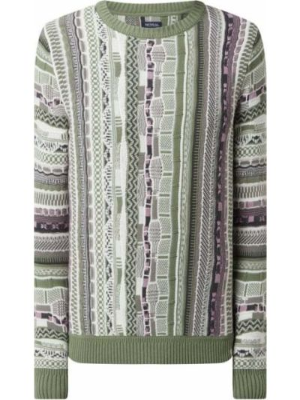 Prążkowany fioletowy sweter bawełniany Mcneal
