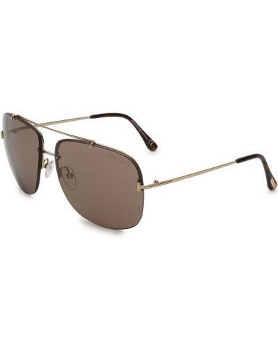 Солнцезащитные очки двойные коричневый Tom Ford