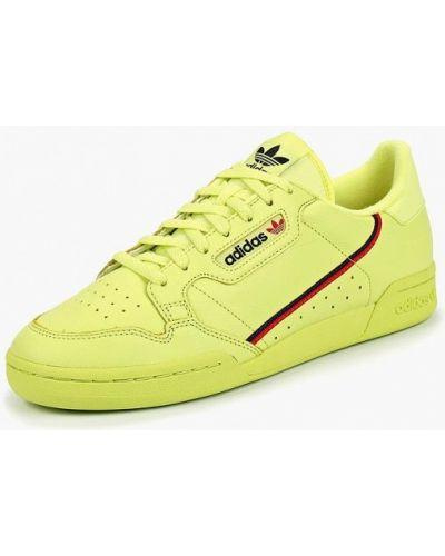 Зеленые низкие кеды Adidas Originals