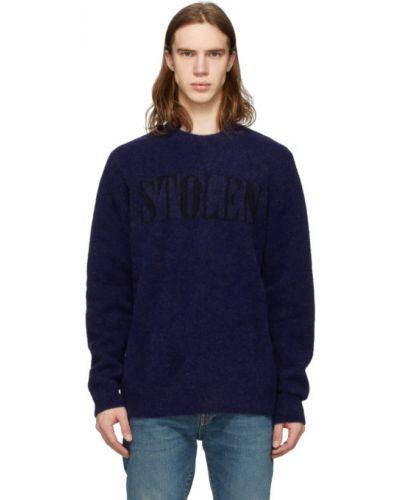 Czarny długi sweter wełniany z długimi rękawami Stolen Girlfriends Club