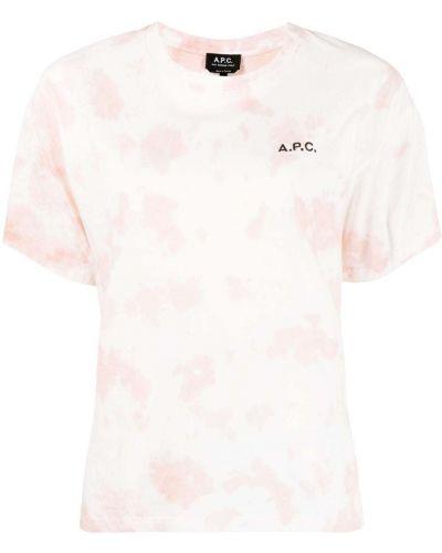 Хлопковая футболка с вырезом с короткими рукавами A.p.c.