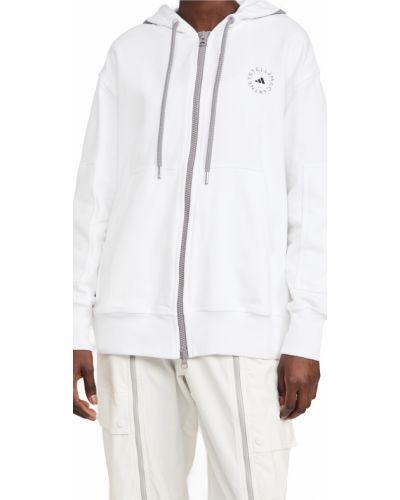 Хлопковое белое худи с капюшоном Adidas By Stella Mccartney