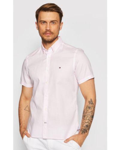 Różowa koszula slim Tommy Hilfiger