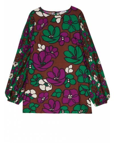 Платье с цветочным принтом с длинными рукавами P.a.r.o.s.h.