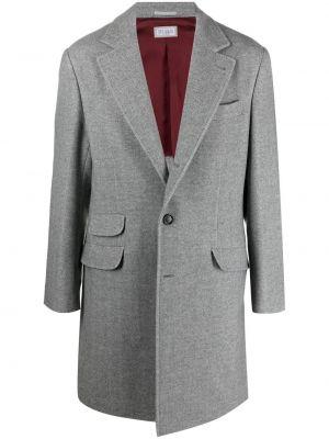 Шерстяное пальто - серое Brunello Cucinelli