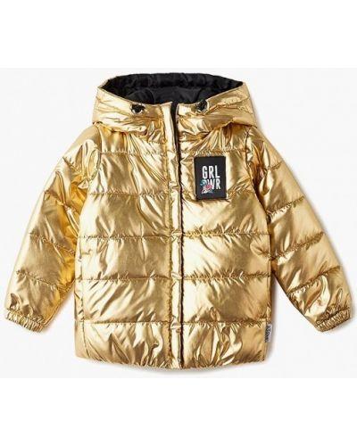 Куртка теплая золотого цвета Boom