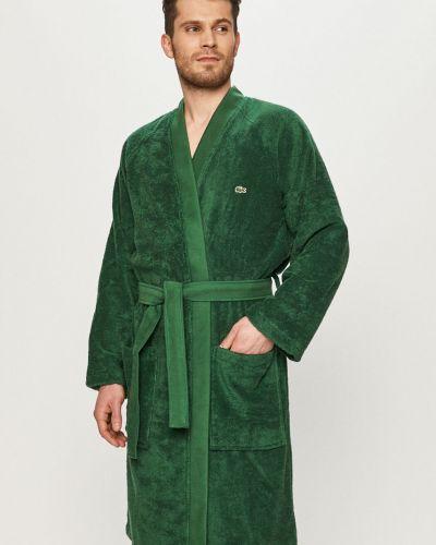 Zielony szlafrok bawełniany Lacoste