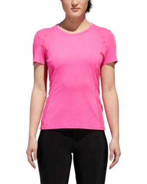 Polo krótki rękaw - różowa Adidas