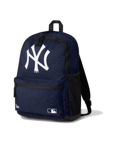 Niebieski plecak w paski New Era