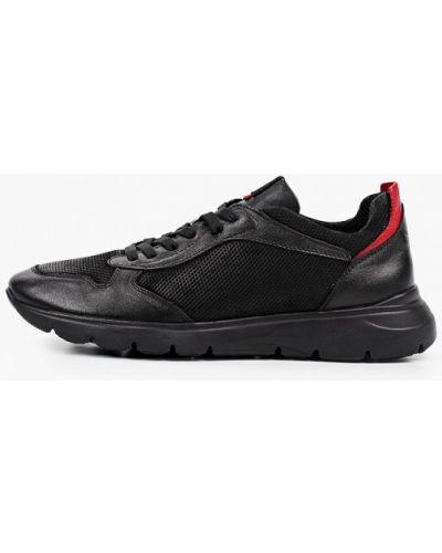 Кожаные черные кроссовки Shoiberg