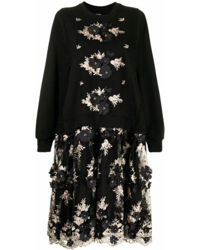 Платье с вышивкой - черное Antonio Marras