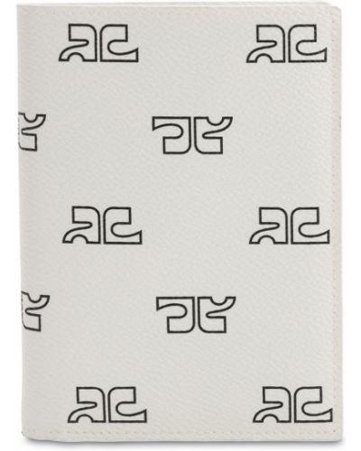 Biały portfel z printem Courreges