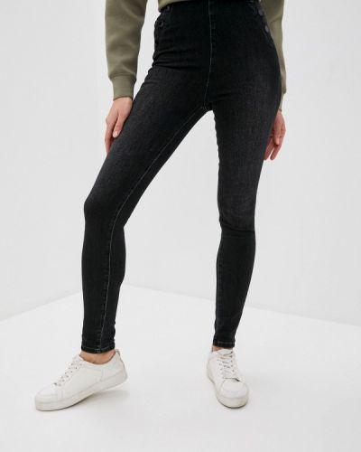 Джинсовые зауженные джинсы - черные Guess Jeans
