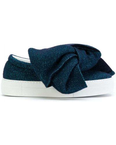 Синие кроссовки с бантом Joshua Sanders