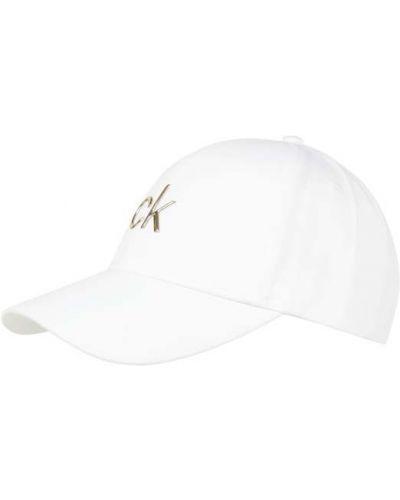 Biała czapka bawełniana Ck Calvin Klein