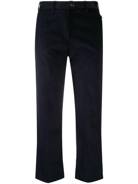 Черные с завышенной талией укороченные брюки с карманами Woolrich