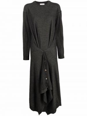 Трикотажное платье миди - серое Lemaire