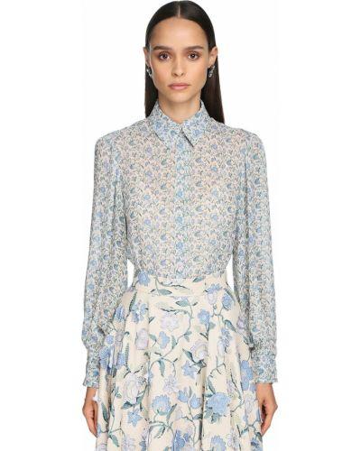 Бежевая классическая рубашка с воротником с манжетами Luisa Beccaria