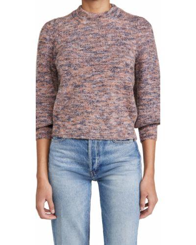 Фиолетовый шерстяной пуловер Madewell