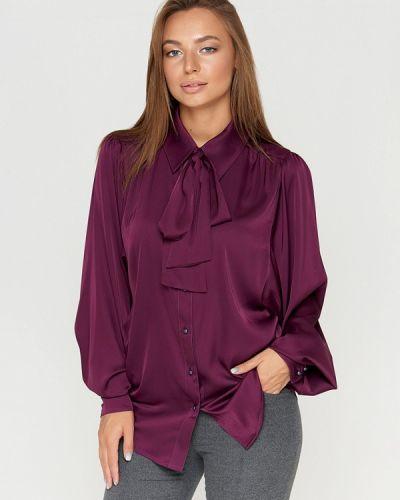 Блузка с длинным рукавом бордовый красная Sellin