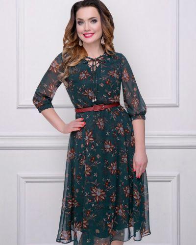 Платье с поясом шифоновое Charutti