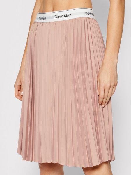 Różowa spódnica Calvin Klein