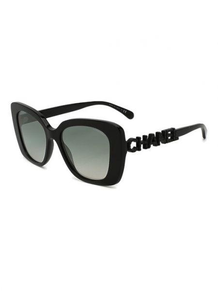 Муслиновые черные солнцезащитные очки Chanel